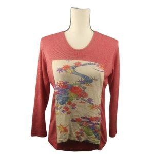 ONE OF A KIND Yasuko Vintage Silk Kimono T-shirt